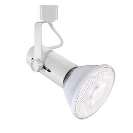 LED Basic WHITE track light with PAR30 LED flood. Easy Track Lighting Kit. Home Design Ideas