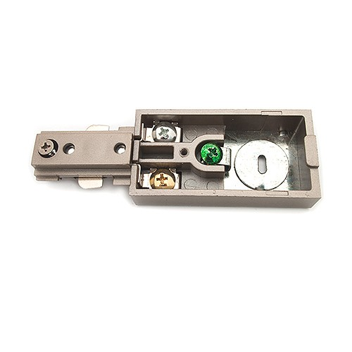 Track Lighting Satin Live End Power Feed Connector 3 Wire