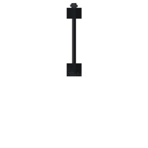 18 Quot Extension Rod Architectural Black For 3 Wire H Style