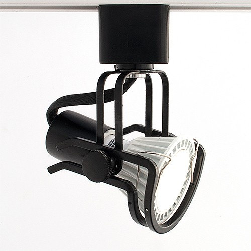 Black Wire Track Lighting: GU10 MR16 BLACK Wire Gimbal Ring Track Light Fixture Head
