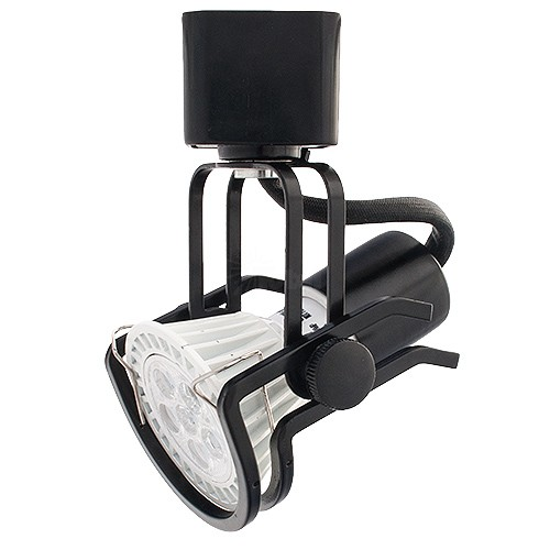Black Wire Track Lighting: LED BLACK Wire Gimbal Ring Track Light Fixture Includes