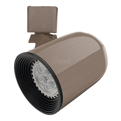 Led satin round back track light fixture head cool or warm for Cool track lighting fixtures