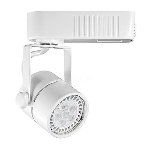 Led Track Light Head White: White Mini Round MR16 Low Voltage 120/12v LED Track Light