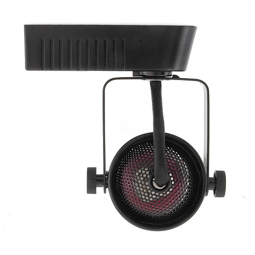 Led Track Light Fixture: Black Mini Round MR16 Low Voltage 120/12v LED Track Light