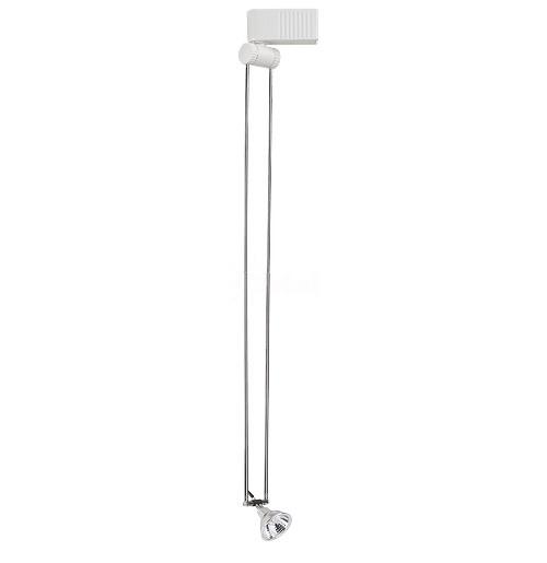 White Swivel Telescoping Mr16 Low Voltage Track Light Fixture