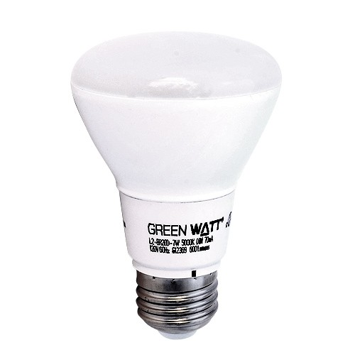 track lighting green watt led 7watt br20 5000k flood light bulb dimmable - Flood Light Bulbs