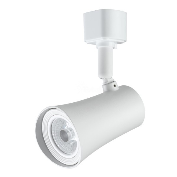 J H Led Wall Pack: Maximus LED Track Light WHITE Flat Back Cylinder Fixture