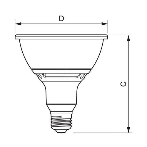 Track Lighting Philips 430066 LED Par38 13watt 2700K 25 AirFlux Single Optic
