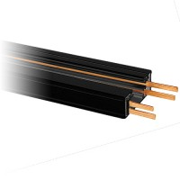 2ft. Dual Circuit Power Track Architectural Black H-style