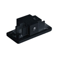 Single circuit 3 wire H style black track end cap