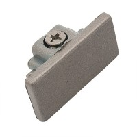 Single circuit 3 wire H style satin track end cap
