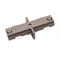 Track lighting satin straight connector mini joiner 3-wire H-style single circuit