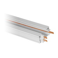 2ft. architectural white power track 3-wire H-style single circuit