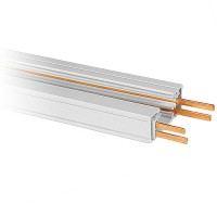 2ft. Dual Circuit Power Track Architectural White H-style