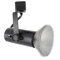 BLACK basic LED track light H-style for PAR20, 30, 38