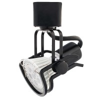 GU10 MR16 BLACK wire gimbal ring track light fixture head