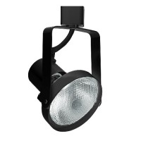 Front loading PAR30 BLACK gimbal ring track light fixture head 3-wire H-style