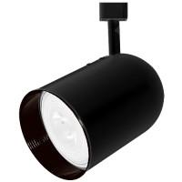 PAR30 BLACK round back cylinder Black baffle track light fixture