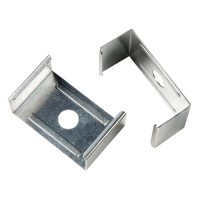 Showcase LED mounting clip for flat surfaces