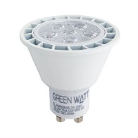 Track lighting Green Watt LED 7watt GU10 MR16 5000K 40° flood light bulb dimmable cool white G-L4-MR16GU10D-7W-50K-40
