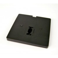 Low voltage Architectural Black single feed monopoint 3-wire H-style track lighting