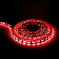 Showcase lighting Red LED tape light 16ft 24volt DC SMD 5050 IP44 rated dimmable
