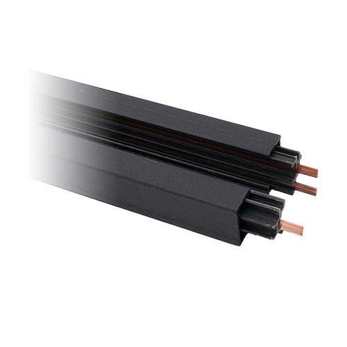 8-foot Power Track Architectural Black 3-wire H-style single circuit