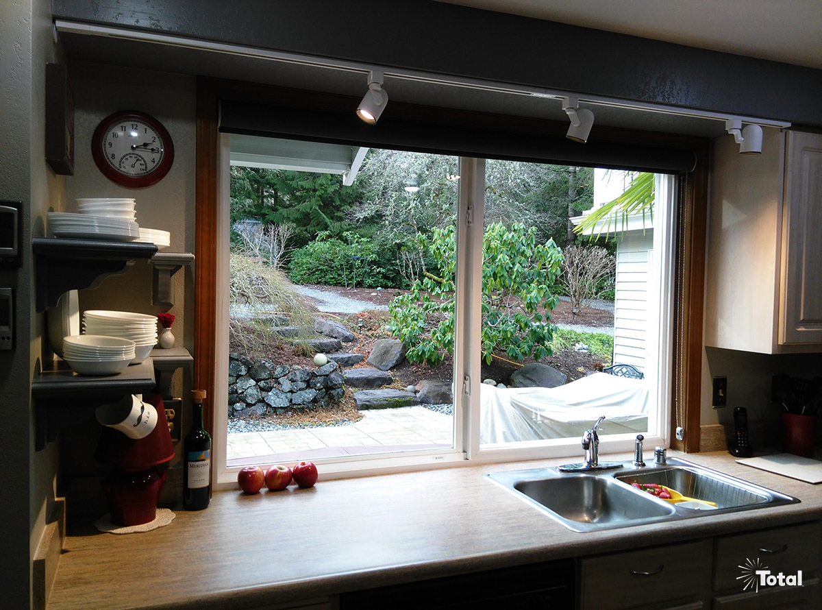 Kitchen Sink It Was So Easy He Installed Another Led Architectural White Track Lighting System