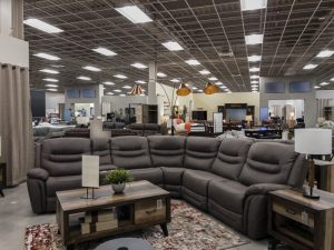 Fluorescent Lighting used in Furniture Store
