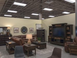 Furniture Store Living Space Fluorescent Lighting