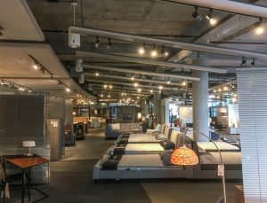 Furniture Store Track Lighting Accented Beds