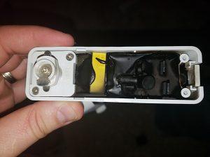 Burnt old track lighting low voltage transformer